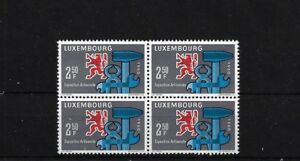 LUXEMBOURG SG682, 1960 CRAFTS EXHIBITION MNH BLOCK OF FOUR