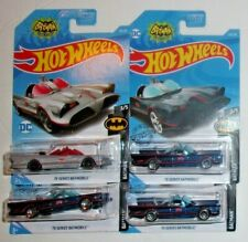 Hot Wheels (4) Tv Series Batmobile #118 HW Batman 3/5 FREE SHIPPING HTF!