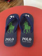Polo Ralph Lauren Men's Big Pony Flip Flops Slippers Sandals Size 7 UK Brand New