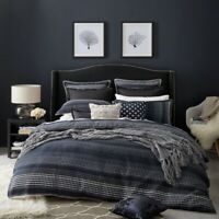 Private Collection Laurence Quilt Cover Set Navy