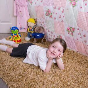 Kids Bright Yellow Childrens Warm Soft Shaggy Fluffy Deep Area Kids Room Rug Mat