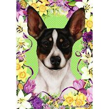 Easter Garden Flag - Tri Rat Terrier 333241