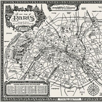 The Paris Map - Fine Art Prints by Manuscript Maps