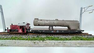 Spur H0  Ladegut BR41/BR03 Rekokessel (39E) mit Mischvorwärmer,  sandgestrahlt