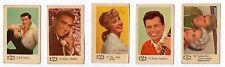 1960s Swedish Film Star Card Bilder C 5 different cards including Sandra Dee