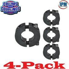 "4-PACK! 1-5/8"" Double Split 2-PC Clamp Shaft Collar, Steel Black Oxide CCI1622S"
