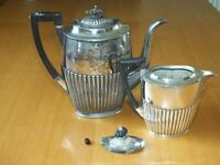 Mappin & Webb teapot Silver Plated Tea Pot + Larger Ebony Tea Coffee pot Spares