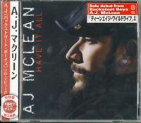 A.J. MCLEAN-HAVE IT ALL-JAPAN CD BONUS TRACK BONUS TRACK E75