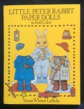 Little Peter Rabbit Paper Doll Book, 1982, Uncut 24 pgs. Susan LaBelle