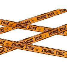 Zombie Zone Caution Tape Halloween Party Decoration Fancy Dress