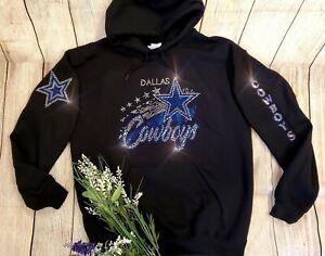 New Women's Dallas Cowboys Hoodie Sweatshirt size Medium Rhinestones Bling