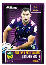 CAMERON SMITH MELBOURNE STORM 2016 ESP NRL TRADERS POINTS SCORED  SIGNED CARD