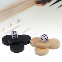 32PCS Wooden Draughts Chess Backgammon Checkers Chips Pieces