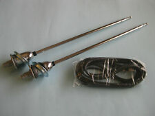 63 64 CHEV IMPALA REAR ANTENNAS NEW 1963 1964 DUAL AERIAL WITH CABLE