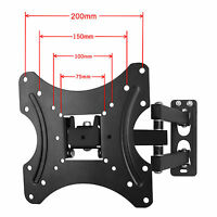 "TV Wall Mount Bracket Tilt Swivel For 10 - 42"" LCD LED Plasma VESA 100 200mm UK"