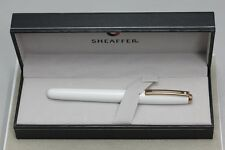 Sheaffer Prelude 9142 White Rose Gold Trim Fountain Pen Medium (New)Standard Box