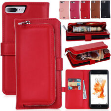 Luxury Magnetic Leather Detachable Flip Wallet Case Cover For iPhone 8 / 8 Plus