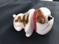 Rare Vintage Bulldog One dog two piece Body & Head  Salt Pepper Japan