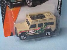 Matchbox Land Rover 110 Defender Lt Brown Body Swamp Tours Toy Model Car
