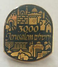 ISRAEL JERUSALEM 3000 Years Metal Enamel PIN BADGE Judaica VINTAGE Jewish Pride