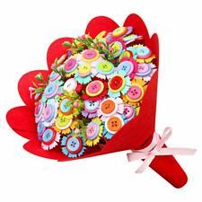 Kids Toy DIY Felt Flower Bouquet Craft Button Set Creative Handmade Gift for Mum