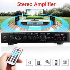 5CH 2000W Home Amplifier bluetooth 4.1 AMP AV Sound LED Display System KTV Amp