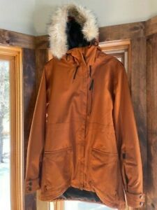 Ride Snowboard Jacket Womens with Powderskirt. Worn Once. From non smoking home