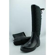 Coach Tristee Women US 10 Black Rain Boot Pre Owned  1075
