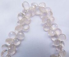 Rose Quartz, High Quality Pale Pink Faceted Teardrop (by 5 Beads) 7-10mm x 6-7mm
