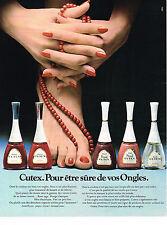 PUBLICITE  1974   CUTEX    vernis à ongles