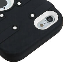for iPod Touch 5th / 6th Gen -Black Heavy Duty Hard&Soft Rubber High Impact Case