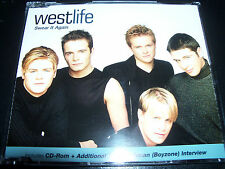 Westlife Swear It Again Rare Australian Enhanced CD Single with Interview