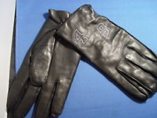 """new $180 """"48"""" Genuine Italian Leather Gloves cashmere insole Sz8 MADE IN ITALY"""
