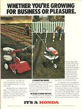 1981 vintage ad, HONDA GARDEN TILLERS 'Sodbusting engines!' -081313