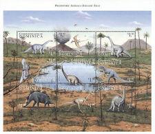 dominica ca 1999 prehistoric dinosaur diplodocus barosaurus ceratosaurus ms9v *