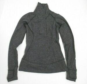 Lululemon Think Fast Pullover Mini Check Pique Black Heathered Black Size 2