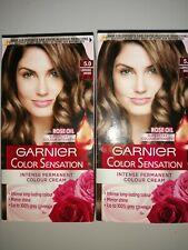 2  garnier colour sensation permanent Hair Dyes luminous brown