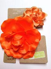 Gymboree Crazy 8 Ponytail Holder Barrette Flower Snap Clip NWT Girl Orange 2 Pcs