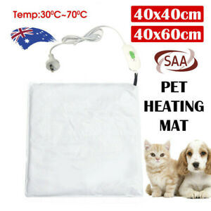 30W Pet Electric Heat Heated Heating Heater Pad Mat Blanket Bed Dog Cat Bunny