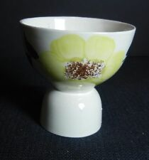 """Southern Potteries Blue Ridge:  Cute """"Sunny"""" Double Egg Cup (5651) Yellow"""