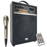 """150 Watts 6.5"""" Rechargeable Guitar Speaker Amp Combo SD USB  Bluetooth MIC"""