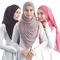Women Muslim Chiffon Long Scarf Islamic Hijab Arab Shawl Wraps Headwear 180*85cm