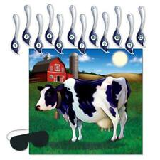 Pin the Tail on the Cow Game Farm Animal Cow Print Country Party Supplies