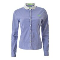 SUPERDRY Womens Casual Shirt Top Size M Long Sleeve Plaid Blue Button Up Genuine
