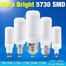 E27/GU10/G9/B22/E14 5730SMD LED Lights Corn Bulb Lamp Bright Milky White110/220V