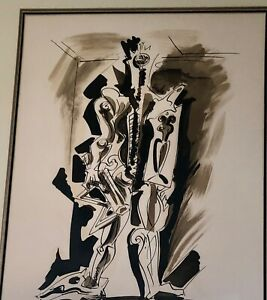 Andre Masson, original framed, signed numbered lithograph Surrealism mid century