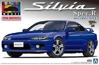 Aoshima NISSAN S15 Silvia Spec.R Brilliant blue Plastic Model Kit from Japan NEW