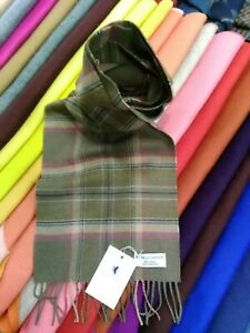 100% Pure Cashmere Scarf by House of Cashmere | Brown Check