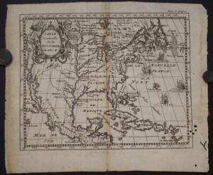 UNITED STATES 1723 ANONYMOUS UNUSUAL ANTIQUE ORIGINAL COPPER ENGRAVED MAP