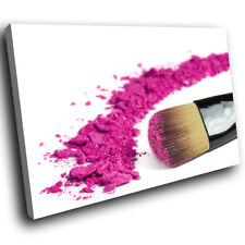 Pink Makeup Brush Fashion Cool Modern Canvas Wall Art Large Picture Prints